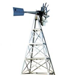 Outdoor Water Solutions 16 ft. 4 Legged Galvanized Steel Windmill Aeration System
