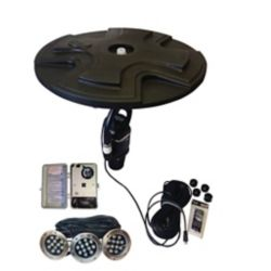 Outdoor Water Solutions 1/2 HP Floating Fountain Eco Line with LED Lights