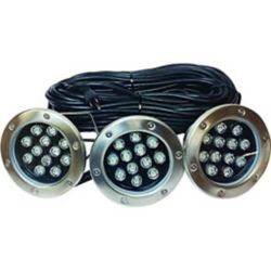 Outdoor Water Solutions Floating Pond Fountain - LED Lights