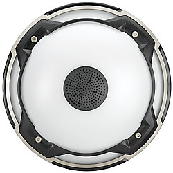 Commercial Electric Spin Light 11-inch Heavy Duty LED Flush Mount Ceiling Light with Bluetooth Speaker 1000 Lumens 4000K Audio Range 33 ft.