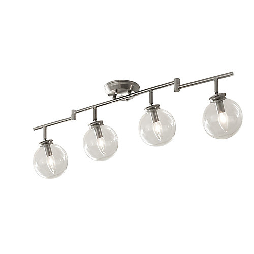 4-Light Multidirectional Lighting Fixture with LED Bulbs
