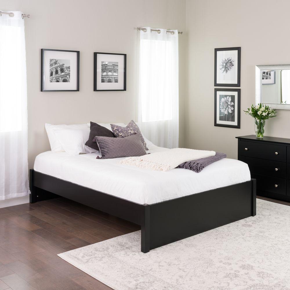 Prepac Queen Select 4-Post Platform Bed -  Black