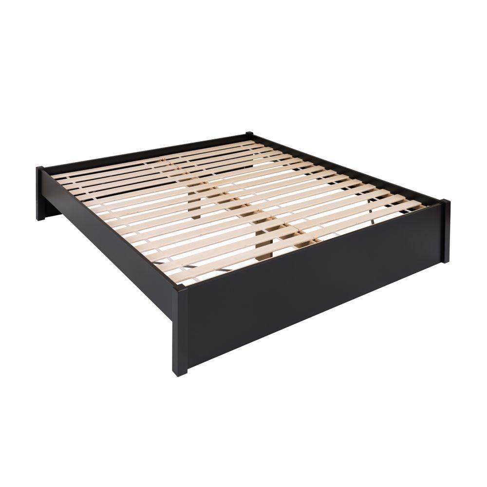 Prepac King Select 4-Post Platform Bed -  Black