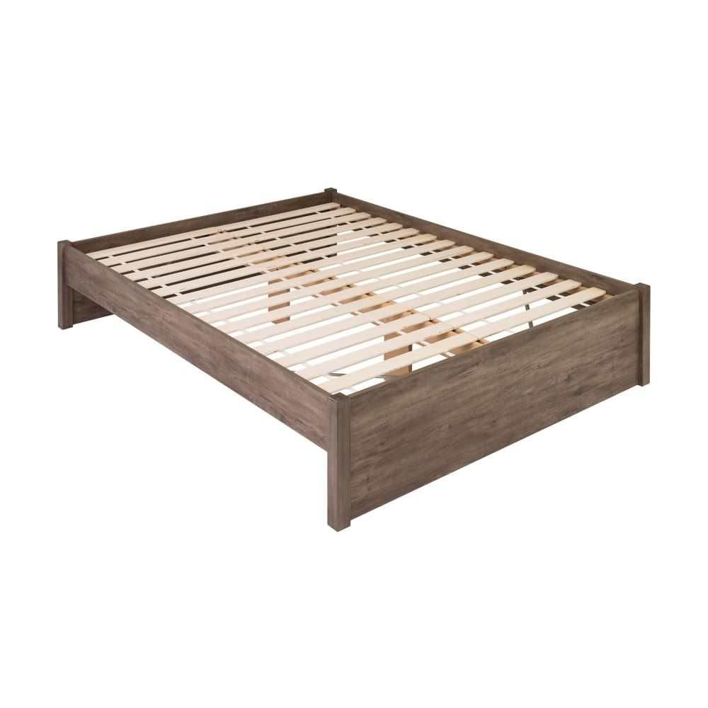 Prepac Queen Select 4-Post Platform Bed -  Drifted Gray