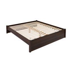 Prepac King Select 4-Post Platform Bed -  Espresso