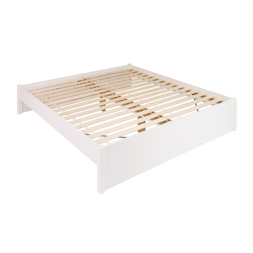 Prepac King Select 4-Post Platform Bed -  White