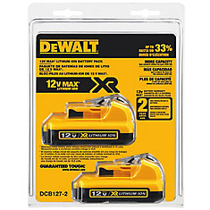 12V MAX Lithium-Ion Battery 2.0 Ah (2-Pack)