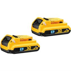 DEWALT Batterie compacte au lithium-ion, 20 V Max, 2,0 Ah, Tool Connect, 2 batteries