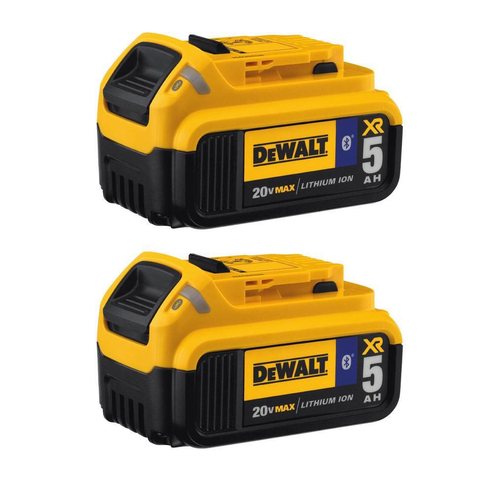 DEWALT 20V MAX Lithium-Ion Tool Connect Battery 5.0 Ah (2-Pack)