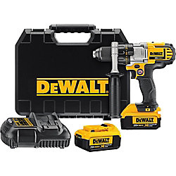 DEWALT 20V MAX Li-Ion Cordless 1/2-inch Premium 3-Speed Drill/Driver Kit w/ (2) Batteries 4Ah, Charger and Case