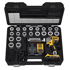 20V MAX XR Brushless Li-Ion Kit de décapage de câble sans fil sans fil avec (1) Batterie 2 Ahr, chargeur et 20 traversées