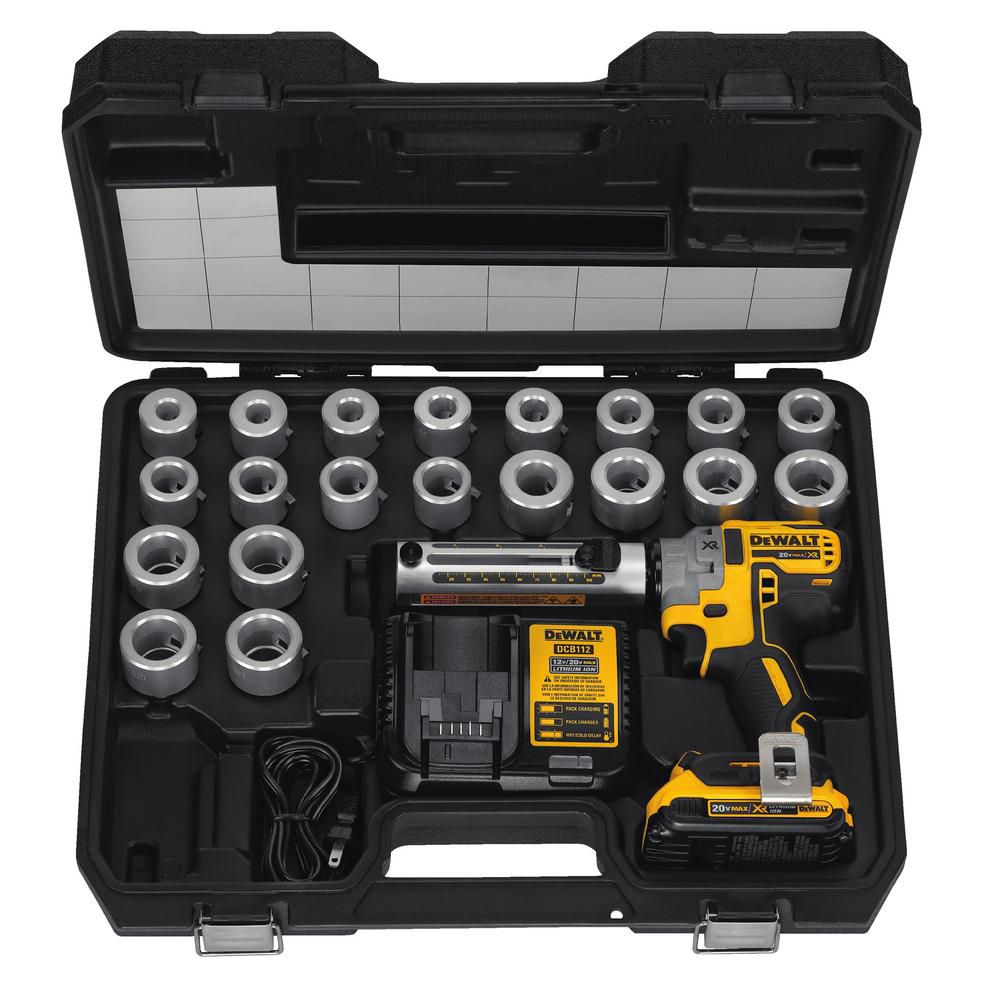 DEWALT 20V MAX XR Cable Stripper Kit 2.0 Ah with Battery, Charger, Bushings and Kit Box