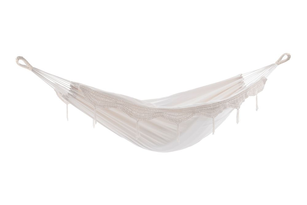 Vivere Brazilian Style Hammock - Single (Natural with Fringe)