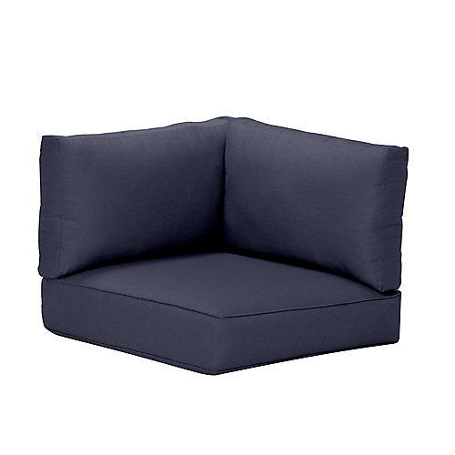 Commercial Sunbrella Canvas Patio Left Arm, Right Arm or Corner Sectional Cushion in Navy