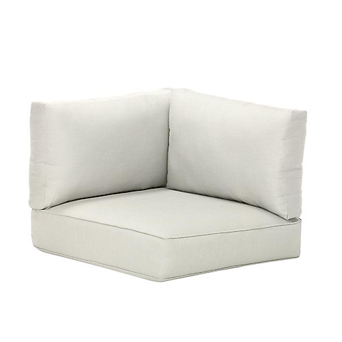 Commercial Sunbrella Canvas White Left Arm, Right Arm or Corner Outdoor Patio Sectional Chair Cushion