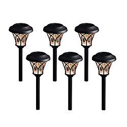 Sentier solaire à LED en bronze de 8 lumens, 6pk