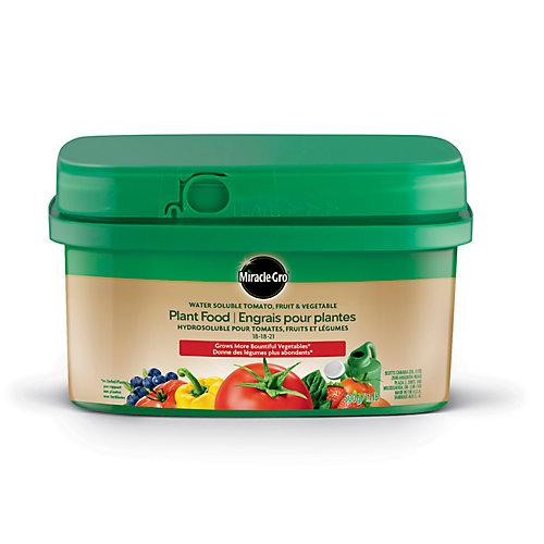 Engrais hydrosoluble pour tomates, fruits et légumes 18-18-21
