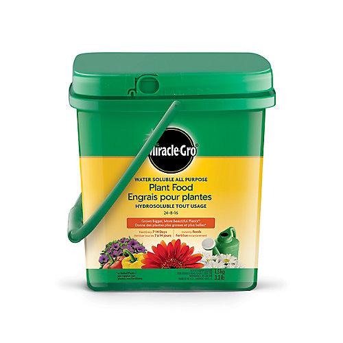 Engrais pour plantes hydrosoluble tout usage 24-8-16, 1,5kg