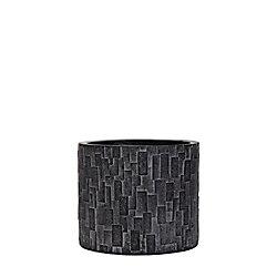 Home Decorators Collection Vase cylindre II brique 14x14x12.5 cm noir