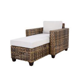 Hampton Bay Stockton Wicker Patio Chaise Lounge