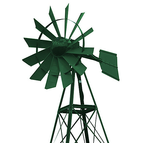 20 ft. Forest Green Powder Coated Aeration Windmill