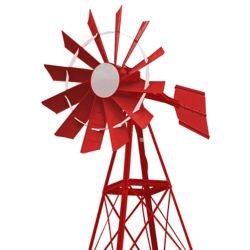 Outdoor Water Solutions 20 ft. 4 Legged Powder Coated Windmill Aeration System