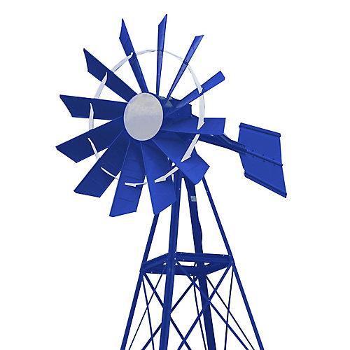 20 ft. Blue & White Powder Coated Aeration Windmill
