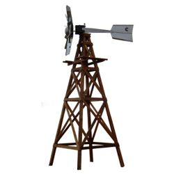 Outdoor Water Solutions OWS Wood Windmill Kit - Galvanized Ornamental Head with Wood Plans and Hardware