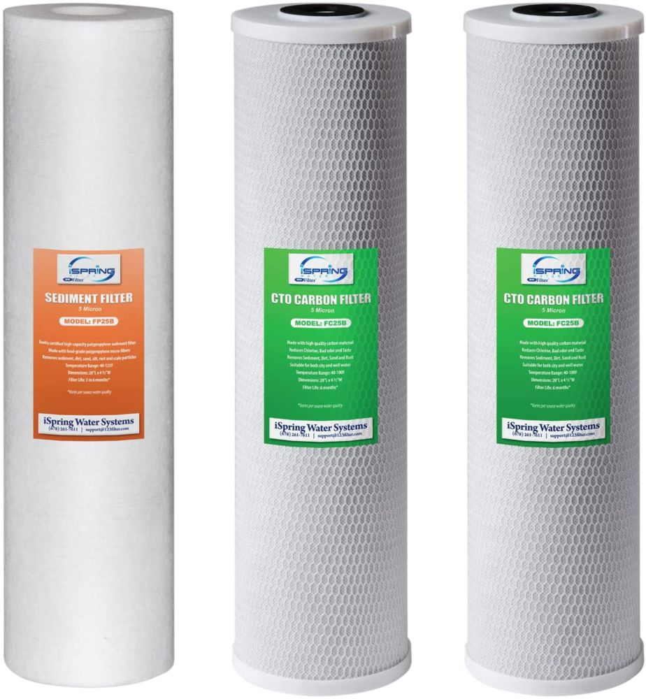 iSpring 3-Stage 20 inch 3-Piece Big Blue Whole House Replacement Filter Pack