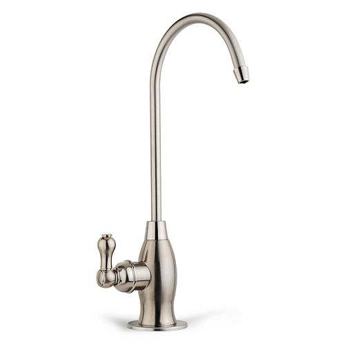 iSpring Drinking Water Coke Shaped High-Spout Faucet in Brushed Nickel