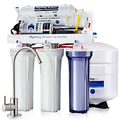 5-Stage 100 GPD Under Sink Reverse Osmosis Drinking Water Filtration System with Booster Pump
