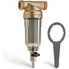 Séparateur de sable 100-MICRON 20-GPM 1 po MNPT 3/4 po FNPT