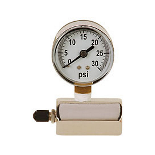 Pressure Gauge by 030 lb. gas test fitting, ¾ inch. FIP connection