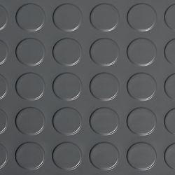 G-Floor Revêtement protecteur à relief en pastilles de qualité commerciale en vinyle, 5 x 10 pi, gris