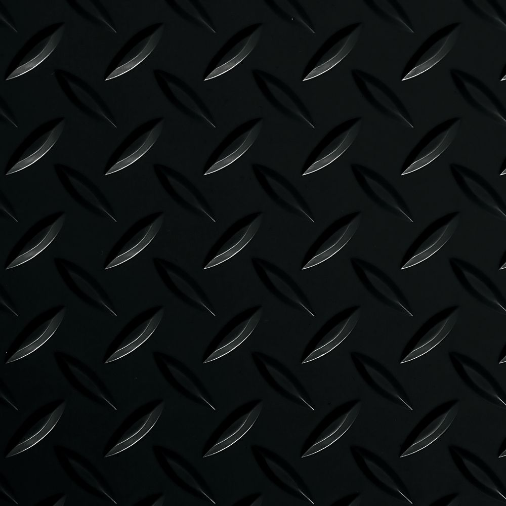 G-Floor Diamond Tread 5 ft. x 10 ft. Midnight Black Commercial Grade Vinyl Garage Floor Cover and Protector