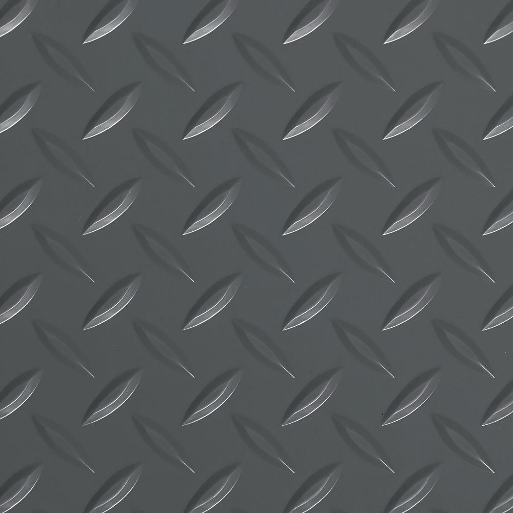 G-Floor Diamond Tread 8.5 ft. x 22 ft. Slate Grey Commercial Grade Vinyl Garage Flooring Cover and Protector