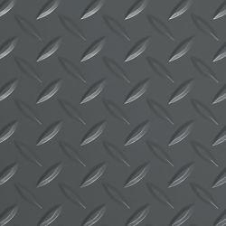 G-Floor Revêtement protecteur larmé de qualité commerciale, Diamond Tread, 8.5 x 22 pi, gris