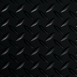 G-Floor Revêtement protecteur larmé de qualité commerciale, Diamond Tread, 10 x 24 pi, noir minuit