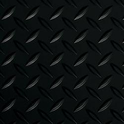 G-Floor Diamond Tread 10 ft. x 24 ft. Midnight Black Commercial Grade Vinyl Garage Floor Cover and Protector