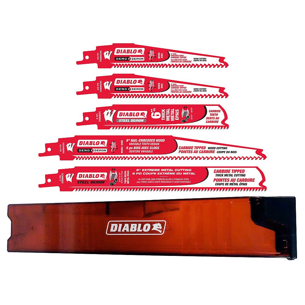 Diablo 5-Piece Set of Carbide Reciprocating Blades