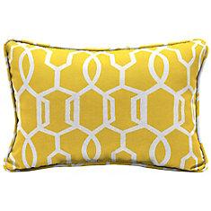 Vase Lattice Lumbar Throw Pillow
