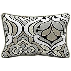 Black & Gray Tile Lumbar Throw Pillow