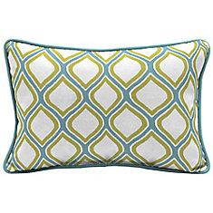 Porcelain & Pear Lumbar Throw Pillow