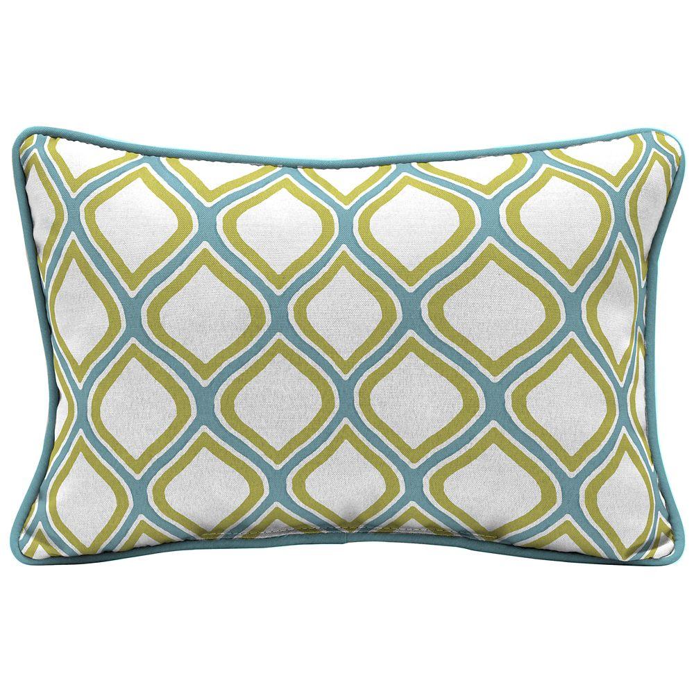 Hampton Bay Porcelain & Pear Lumbar Throw Pillow