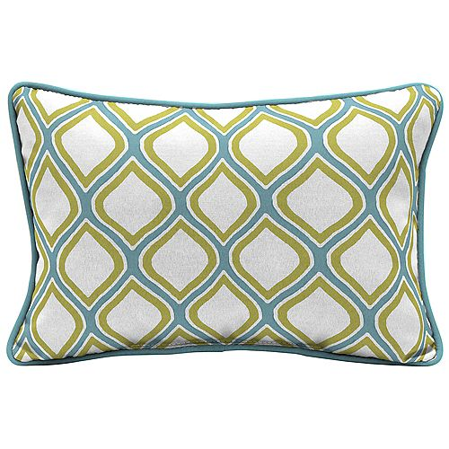 Hampton Bay Porcelain & Pear Lumbar Throw Pillow