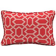 CushionGuard Ruby Geo Lumbar Throw Pillow