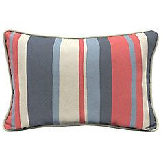 CushionGuard Ruby Stripe Lumbar Throw Pillow