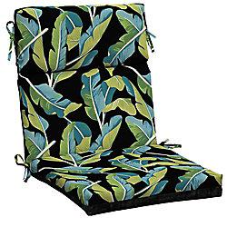 Hampton Bay Banana Leaf Tropical High Back Dining Chair Cushion