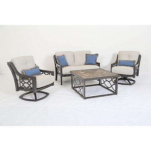 RICHMOND HILL 4-Piece Aluminum Deep Seating set