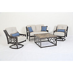 Ensemble de Causerie en aluminium RICHMOND HILL 4pc
